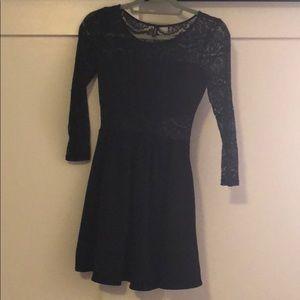 Gorgeous black-laced detail dress